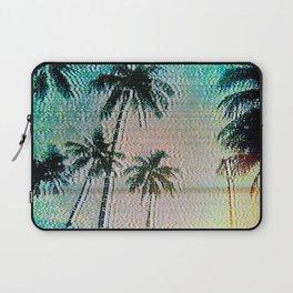 Analogue Glitch Palm Trees Sunrise Laptop Sleeve