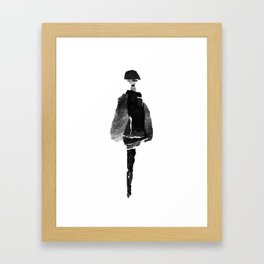 Fashion collage Framed Art Print
