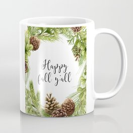 Happy Fall Y'All, Fall Quote, Fall Art, Happy Art Coffee Mug