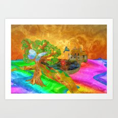 Let color bring you smiles as you walk lifes many miles Art Print