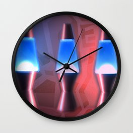 Lava Lamps #1 Wall Clock