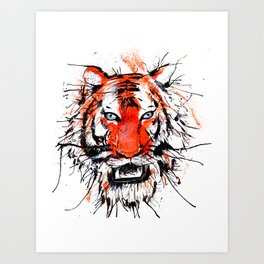 tigerish Art Print