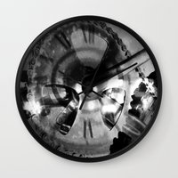 imagerybydianna Wall Clocks featuring Logos by Art by Mel