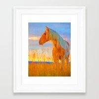 mustang Framed Art Prints featuring Mustang by DigitalAndPhoto