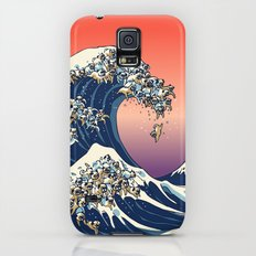 The Great Wave of Pug Slim Case Galaxy S5