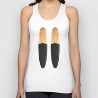surfboard Tank Tops featuring Vintage Wooden Surfboard by theJoynerBrand