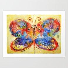 Astrazioni su ali di farfalla Art Print