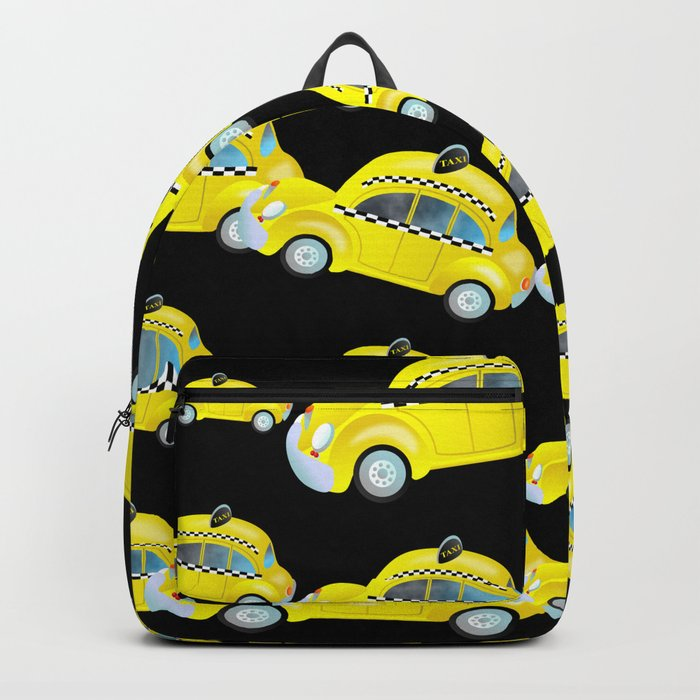 Yellow Taxi Cab Backpack by prawny
