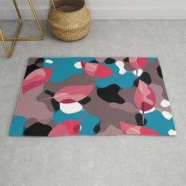 Red Leaves Camo Rug
