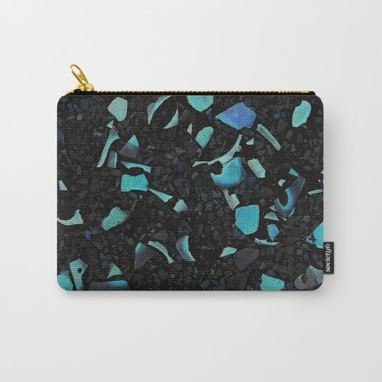 Black and Blue Abstract Carry-All Pouch