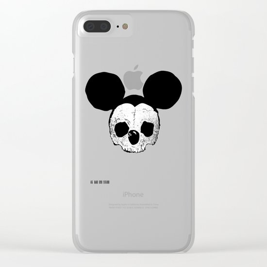Dead Mickey Mouse Clear iPhone Case