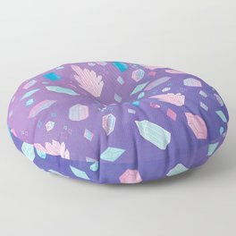 Colorful Crystal Confetti Floor Pillow