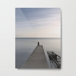 Mermaid at Sunset Metal Print