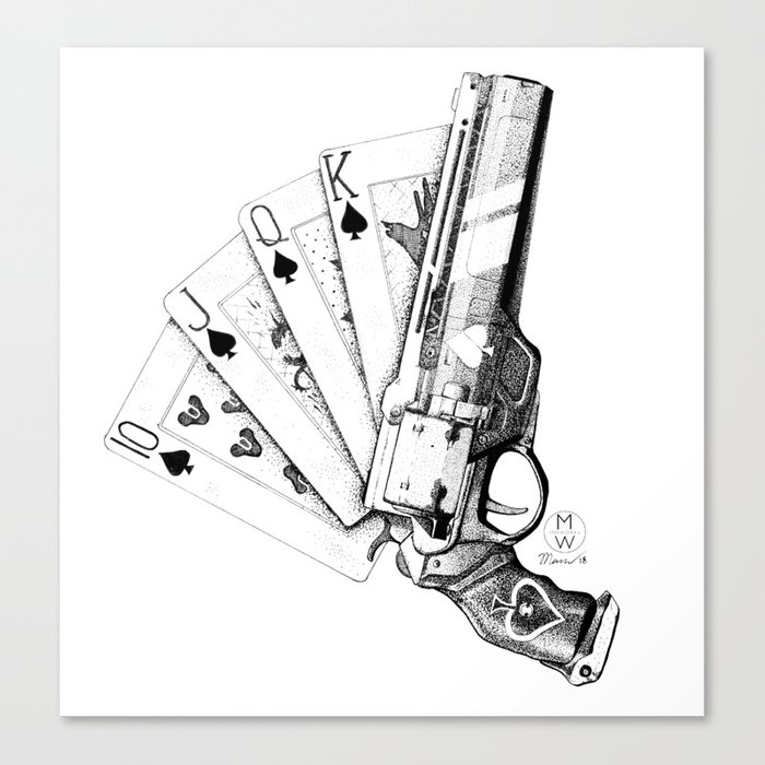 The Ace Of Spades Canvas Print By Mwinkworks