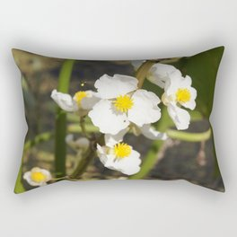 Arrowroot bloom Rectangular Pillow