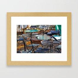 Crow on Chair Framed Art Print