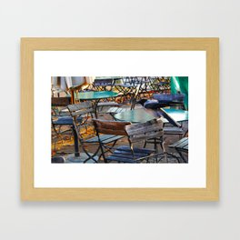 Crow on Chair Framed Art Print