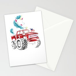 I Like Big Trucks And I Cannot Lie Unicorn Stationery Cards