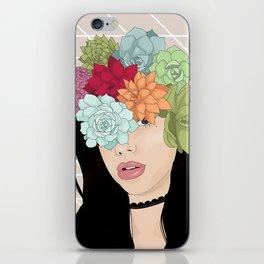 Succulent Girl iPhone Skin