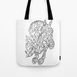 Doodle horse - showjumper Tote Bag