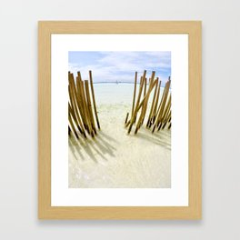 Boracay Sunshine Bamboo Framed Art Print