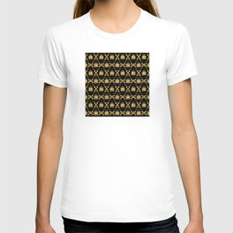 Classique Art Deco Gold Butterfly Pattern T-shirt