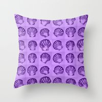 shells Throw Pillows featuring Shells by Cathy Jacobs