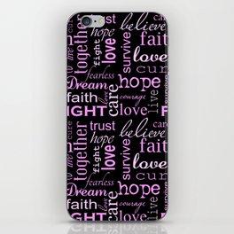 Breast Cancer - Black iPhone Skin