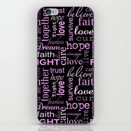 Breast Cancer - Black iPhone Skin