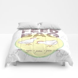 """FEED BAG """"Cluck Cluck"""" Color Kitchen Print Comforters"""