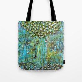 Turquoise home Tote Bag