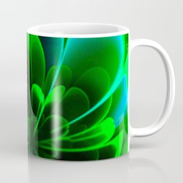 Abstract Green Flower Coffee Mug