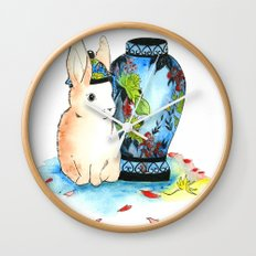 Lapin Chinoiserie Wall Clock
