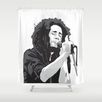 marley Shower Curtains featuring Marley Music by Mark Lucas