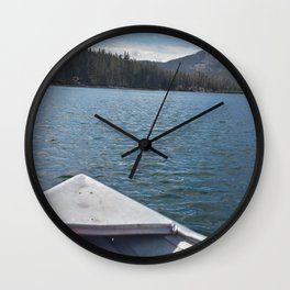 Fishing on Lake Mary Wall Clock