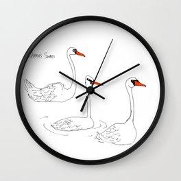 Queen's Swans Wall Clock