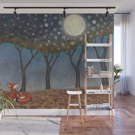 sleepy foxes Wall Mural