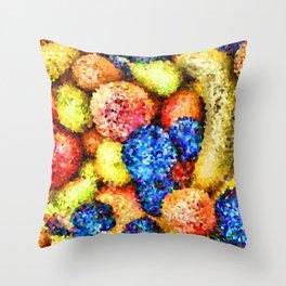 crystallized fruits Throw Pillow