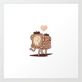 French Toast Kiss Art Print