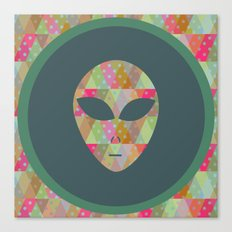 retro pattern and alien 3 Canvas Print