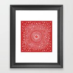 Poinsettia Mandala Framed Art Print