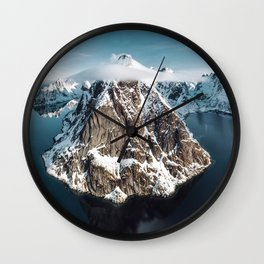 aerial view of the lofoten Wall Clock