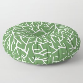 Branches - green Floor Pillow