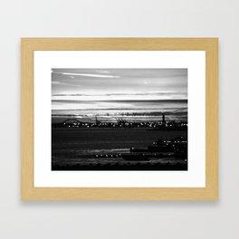 Vague Memories of New York [Black & White] Framed Art Print