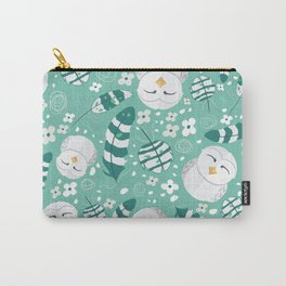 Minty Fresh Owls Carry-All Pouch