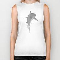 shark Biker Tanks featuring SHARK by Gabriel Martins