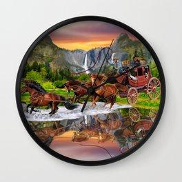 Wells Fargo Stagecoach Wall Clock