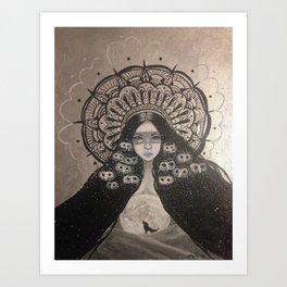 She Brings The Night Art Print