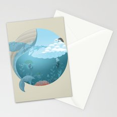 Whale Jump Stationery Cards