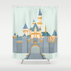 Sleeping Beauty Castle Shower Curtain